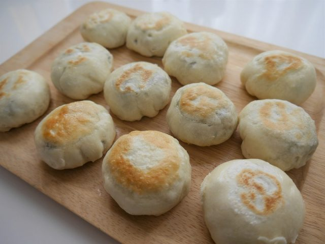 長野土産のおやきの粉で作った手作りおやき