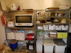 メタルラック(スチールラック)のキッチン収納